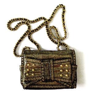 Rebecca Minkoff Gold Sweetie Bow Shoulder Handbag